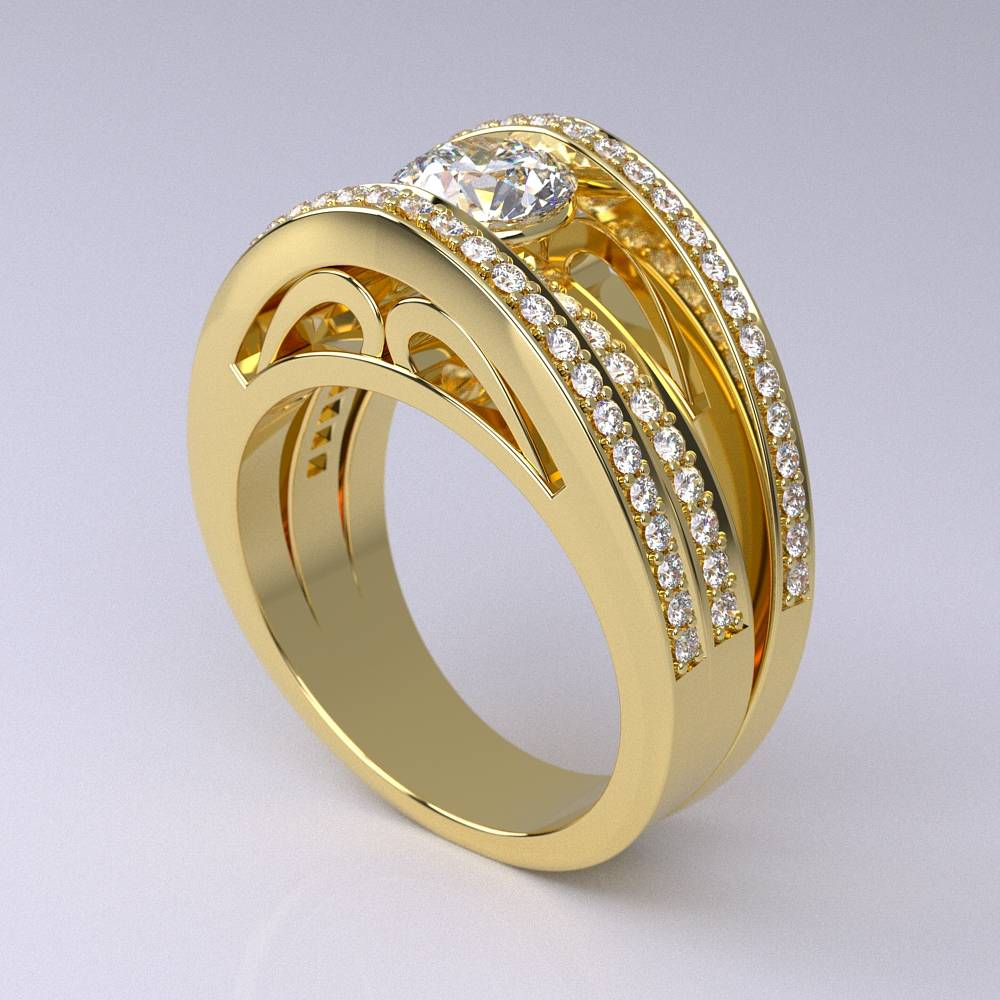 Model-11.1 Specchio Special Diamond Ring Collection Image