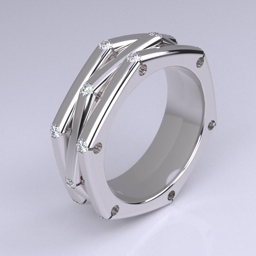 Model-11.5 Specchio Special Diamond Ring Collection Image