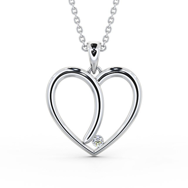 Fancy heart shape diamond pendant PNT100 Image