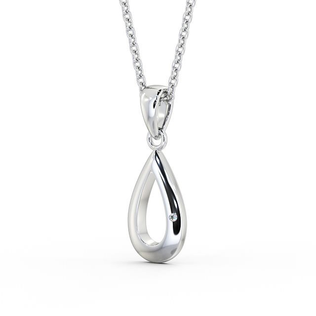 Open peardrop diamond set pendant PNT101 Image