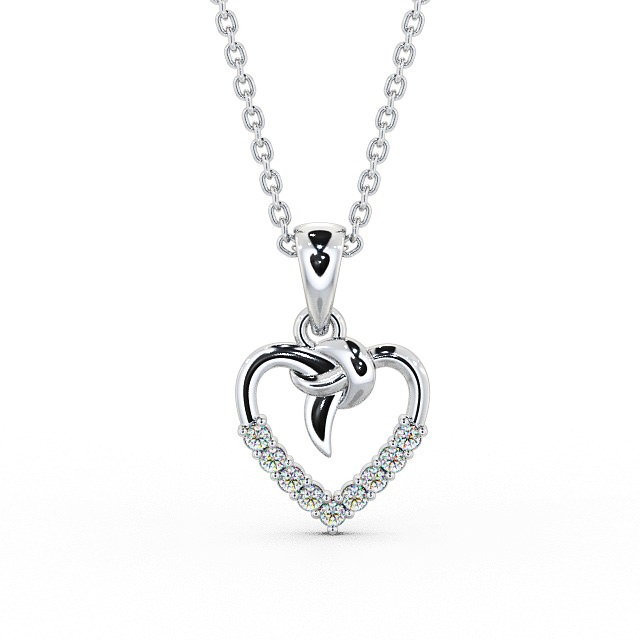 Diamond set open heart pendant PNT107 Image