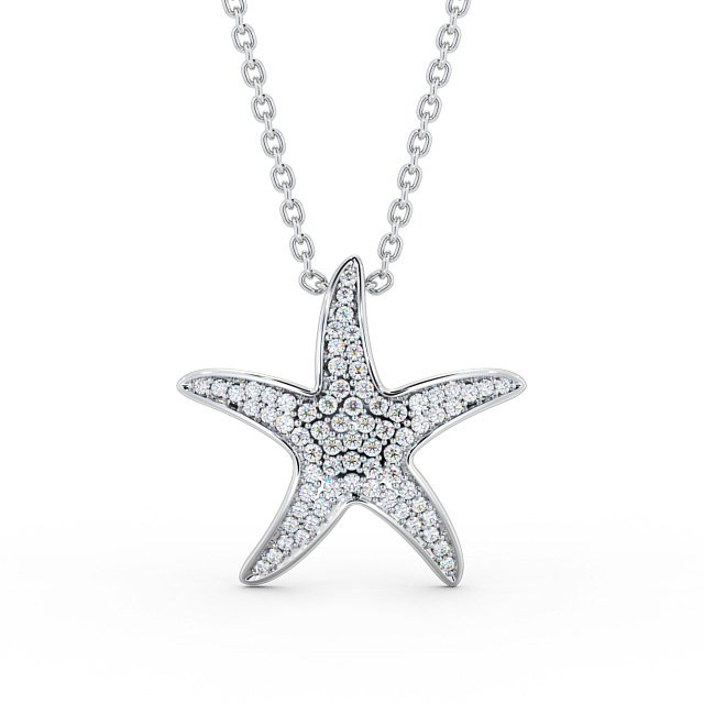 Starfish diamond set pendant PNT109 Image