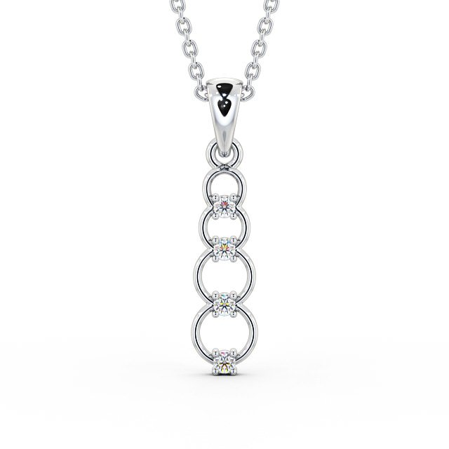 4 Stone Diamond Pendant with Circles PNT110 Image