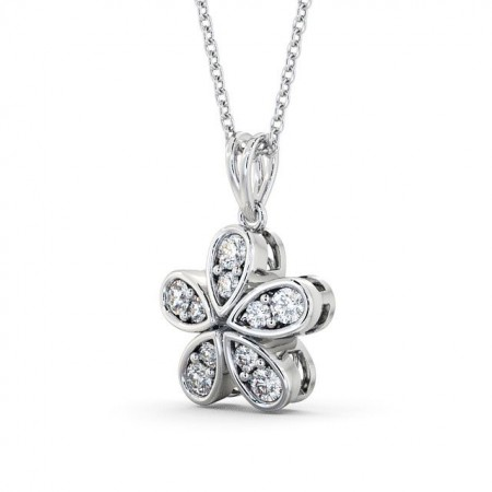 Fancy diamond cluster drop pendant PNT65 Image