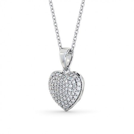 Heart diamond cluster drop pendant PNT70 Image