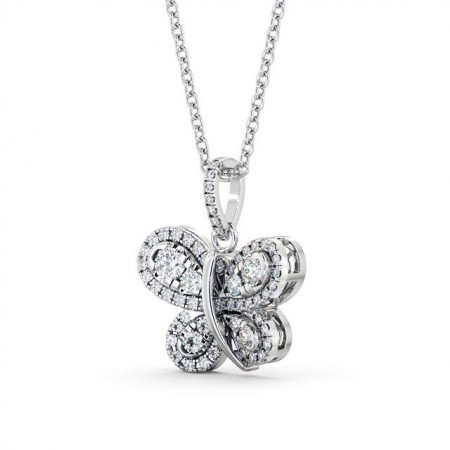Fancy diamond clusters drop pendant PNT76 Image