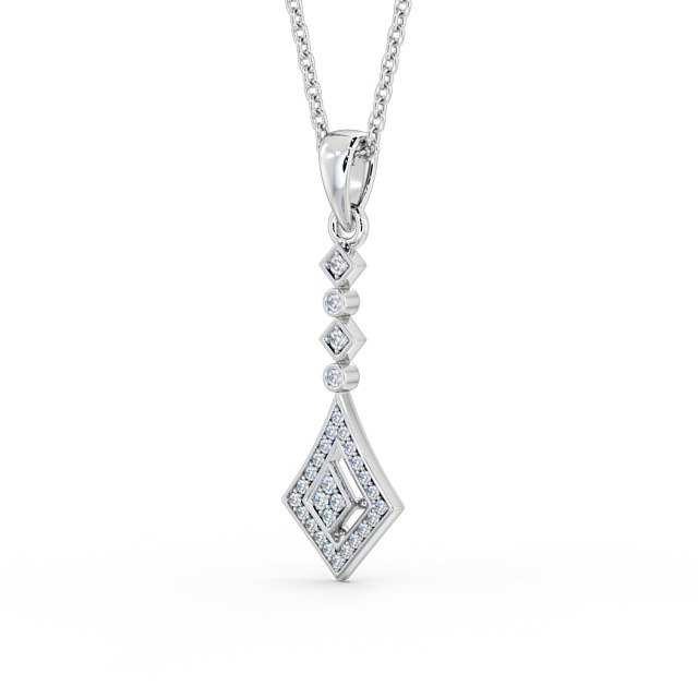 Multi diamond cluster bar drop pendant PNT93 Image