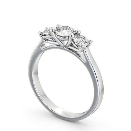 Diamond three 3-stone ring round cut TH12 Image