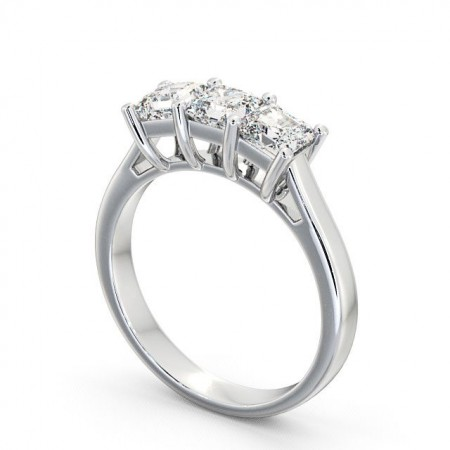 Princess diamond three 3-stone ring TH17 Image