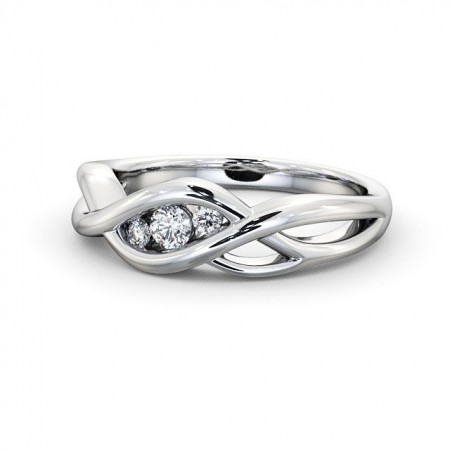 Diamond three 3-stone ring round cut TH21 Image