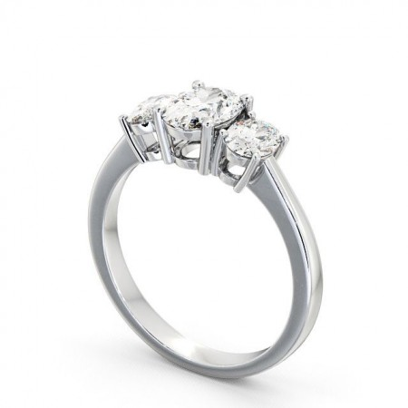 Diamond three 3-stone ring TH3 Image